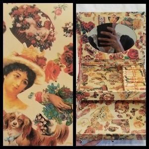 VTG Victorian Print Jewelry Box